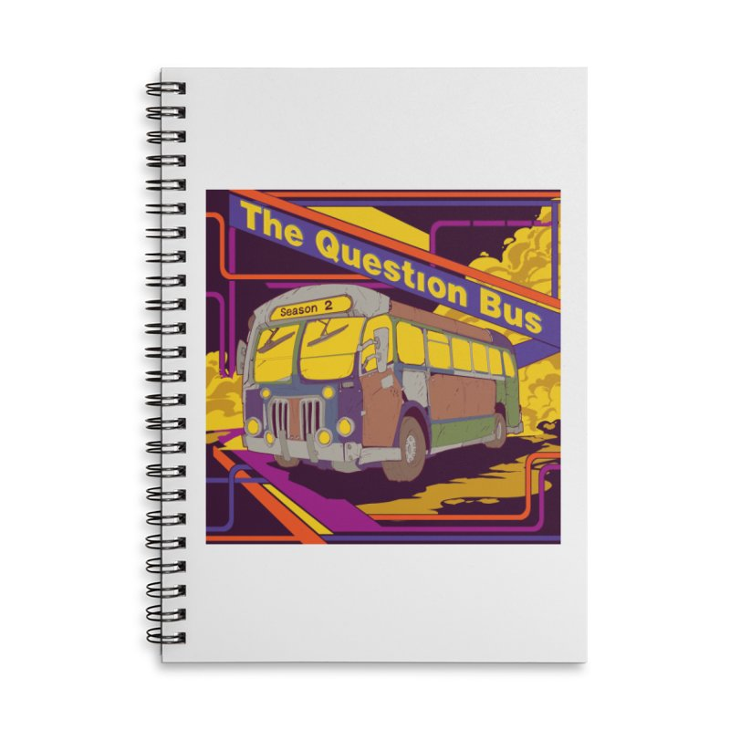 The Question Bus Season 2: Logo Accessories Lined Spiral Notebook by Keir Miron's Artist Shop