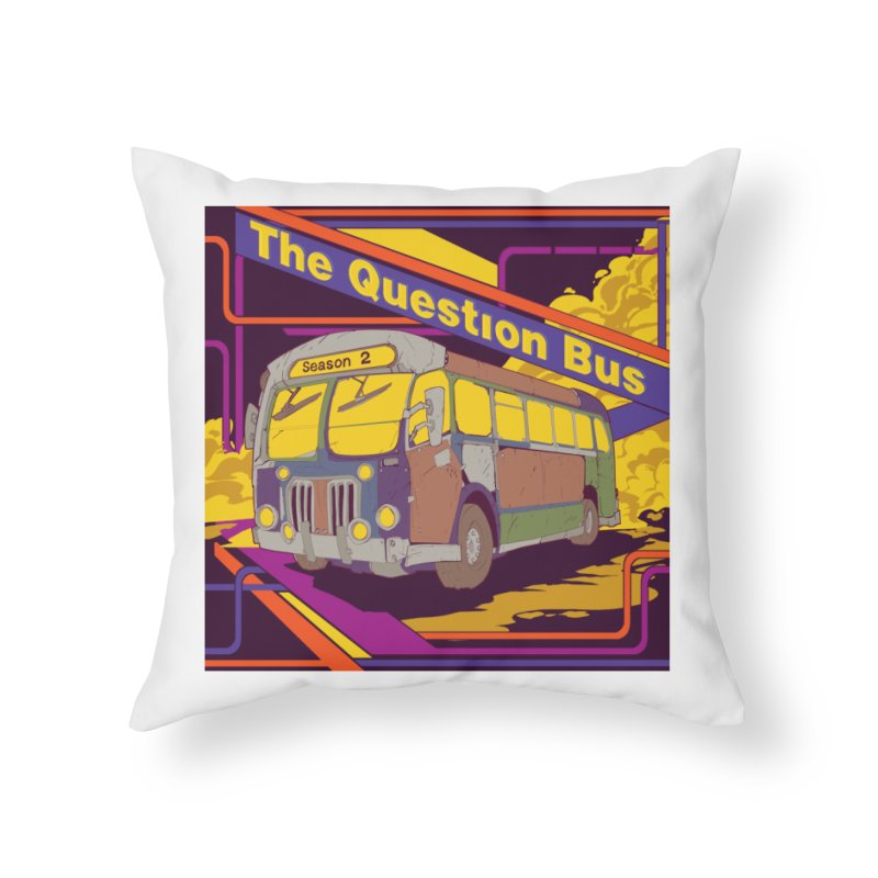 The Question Bus Season 2: Logo Home Throw Pillow by Keir Miron's Artist Shop