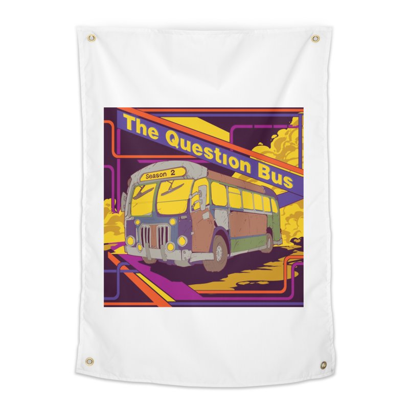 The Question Bus Season 2: Logo Home Tapestry by Keir Miron's Artist Shop