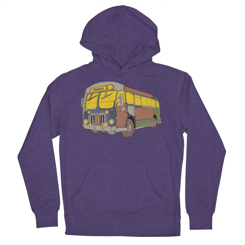 The Question Bus Season Two: Logo Bus in Men's French Terry Pullover Hoody Heather Purple by Keir Miron's Artist Shop