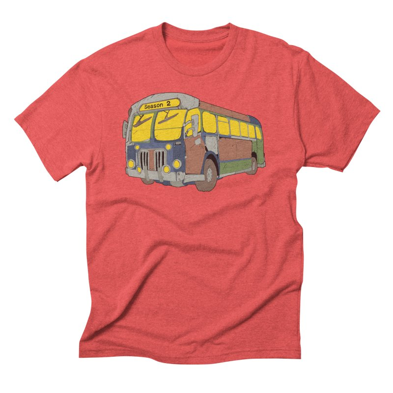 The Question Bus Season Two: Logo Bus in Men's Triblend T-Shirt Chili Red by Keir Miron's Artist Shop