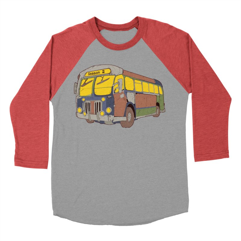 The Question Bus Season Two: Logo Bus Men's Baseball Triblend Longsleeve T-Shirt by Keir Miron's Artist Shop
