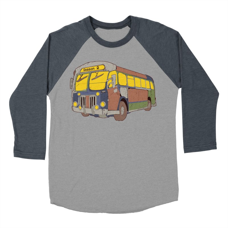 The Question Bus Season Two: Logo Bus Men's Baseball Triblend T-Shirt by Keir Miron's Artist Shop