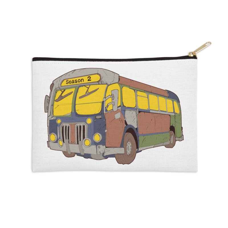 The Question Bus Season Two: Logo Bus Accessories Zip Pouch by Keir Miron's Artist Shop