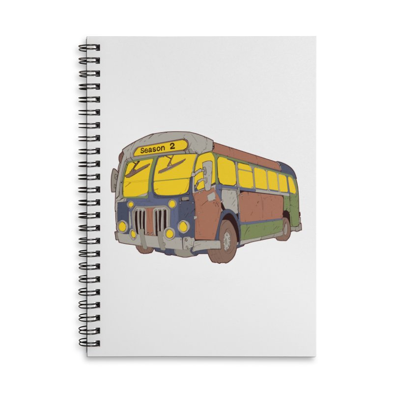 The Question Bus Season Two: Logo Bus Accessories Lined Spiral Notebook by Keir Miron's Artist Shop