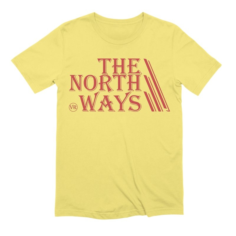 The Northways: Red Men's Extra Soft T-Shirt by Keir Miron's Artist Shop