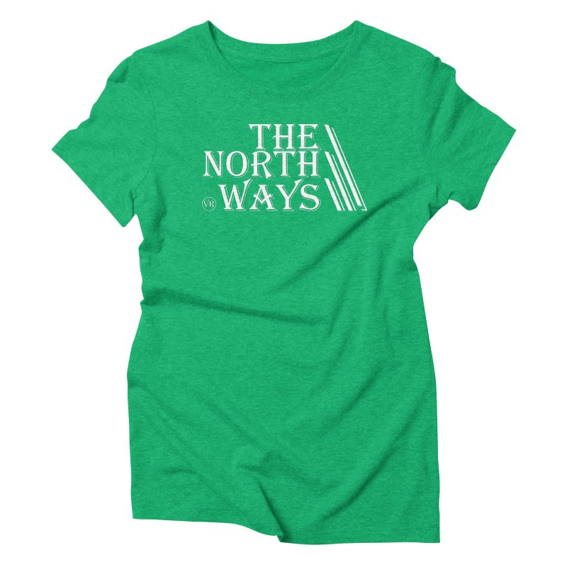 The Northways: White in Women's Triblend T-Shirt Tri-Kelly by Keir Miron's Artist Shop