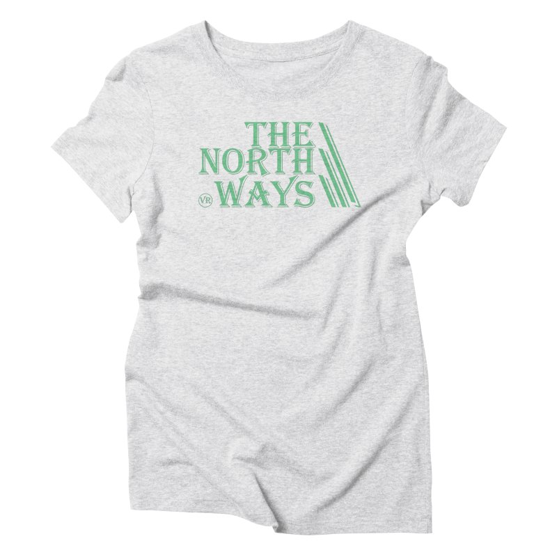 The Northways: Green in Women's Triblend T-Shirt Heather White by Keir Miron's Artist Shop