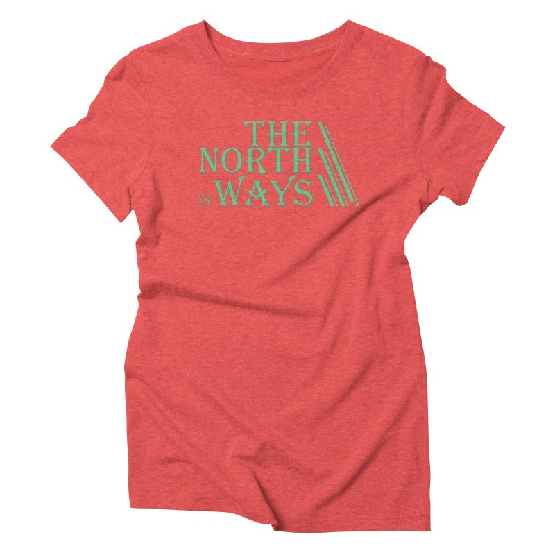 The Northways: Green in Women's Triblend T-Shirt Chili Red by Keir Miron's Artist Shop