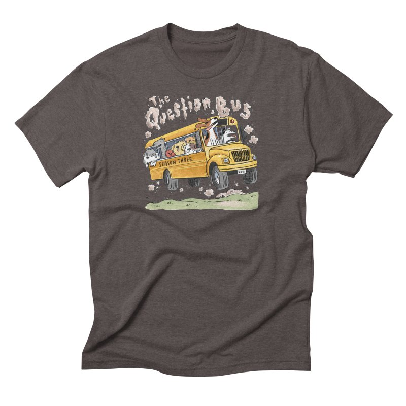 The Question Bus: Season 3: Logo in Men's Triblend T-Shirt Tri-Coffee by Keir Miron's Artist Shop