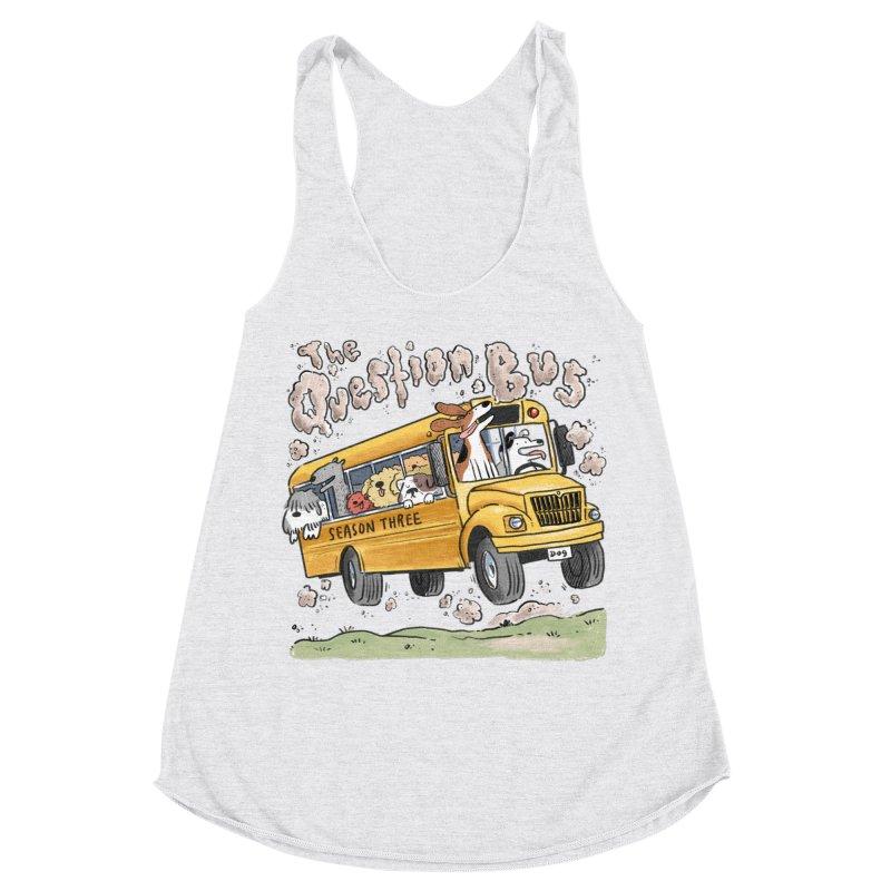 The Question Bus: Season 3: Logo Women's Racerback Triblend Tank by Keir Miron's Artist Shop