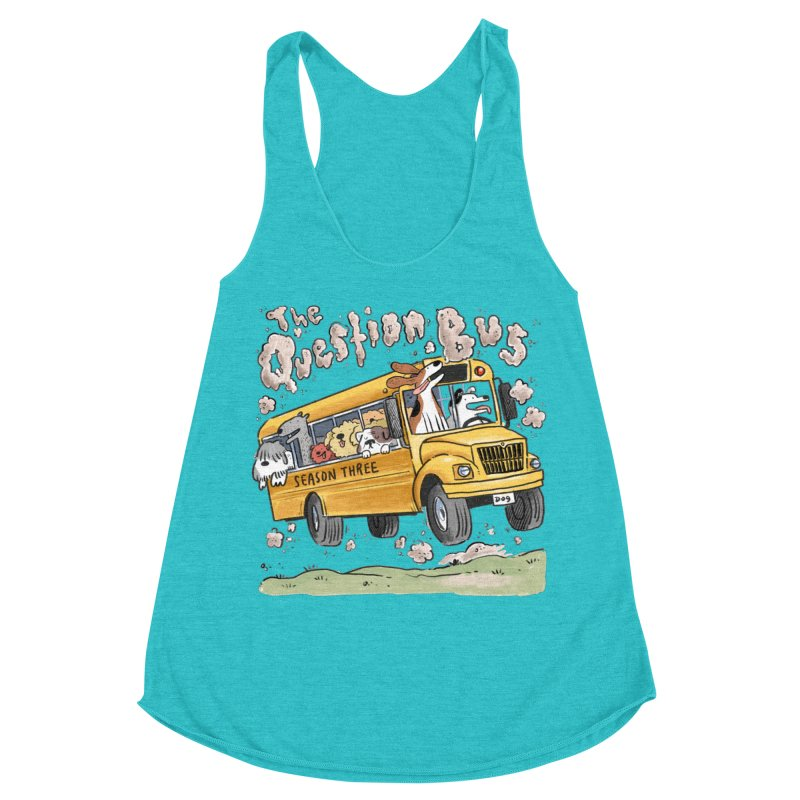 The Question Bus: Season 3: Logo in Women's Racerback Triblend Tank Pacific Blue by Keir Miron's Artist Shop
