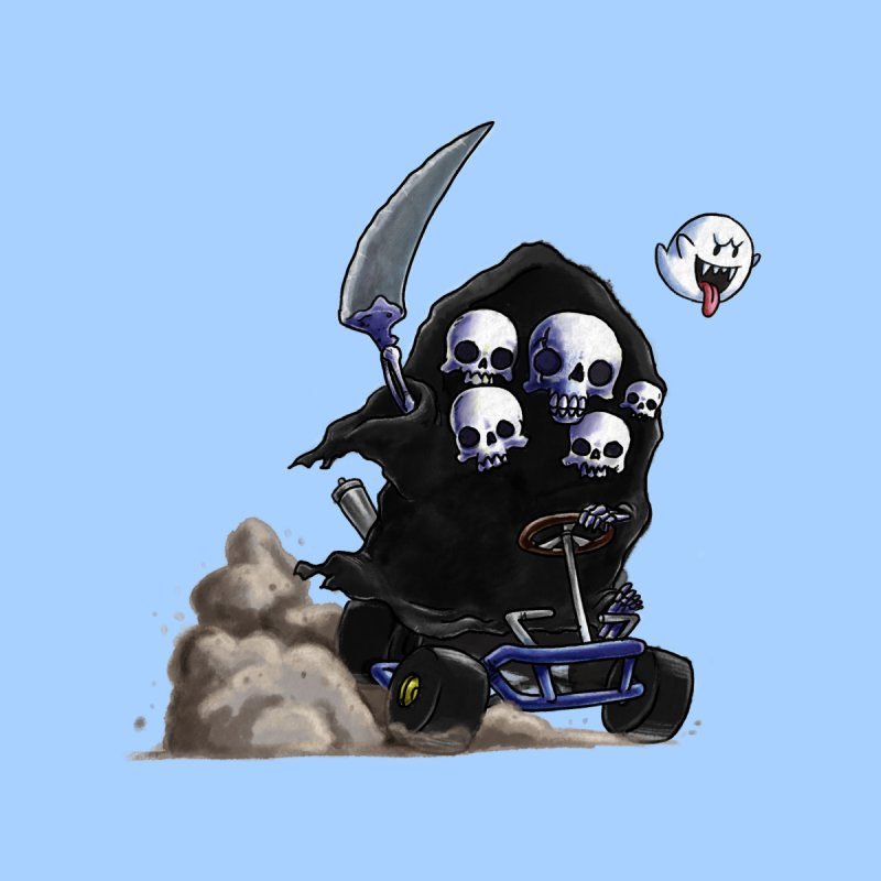 Dark Souls Invades Mario Kart (Gravelord Nito) Women's Longsleeve T-Shirt by Keith Noordzy's Artist Shop