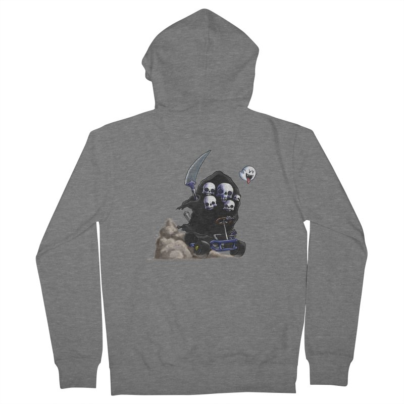 Dark Souls Invades Mario Kart (Gravelord Nito) Women's Zip-Up Hoody by Keith Noordzy's Artist Shop