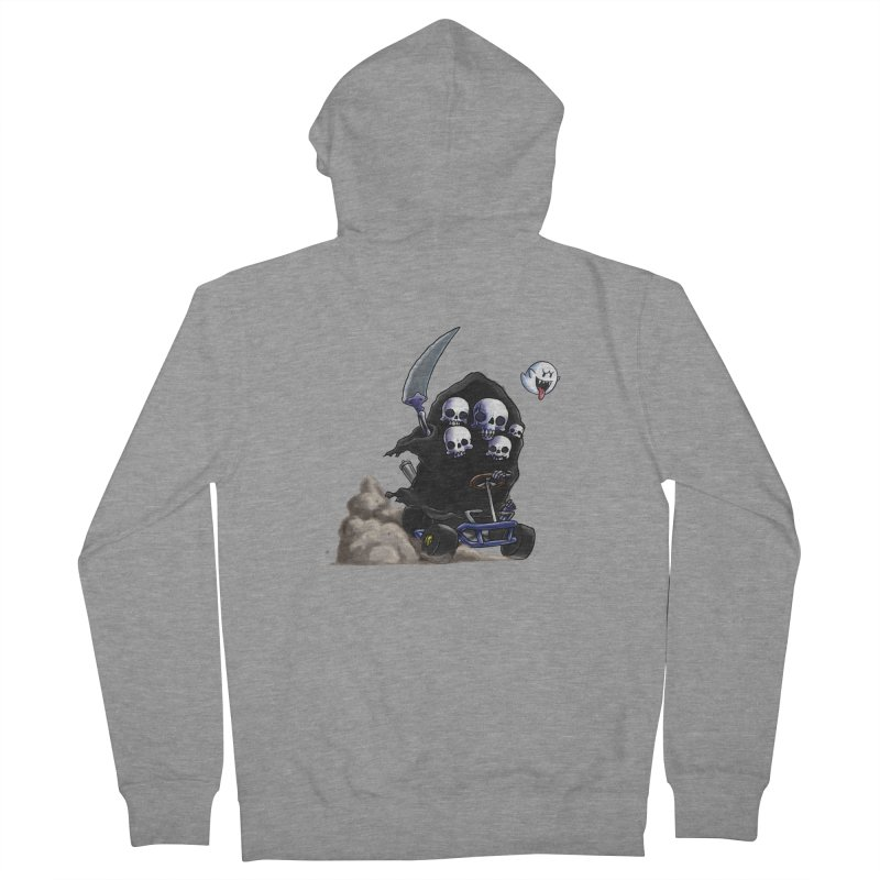 Dark Souls Invades Mario Kart (Gravelord Nito) Women's French Terry Zip-Up Hoody by Keith Noordzy's Artist Shop
