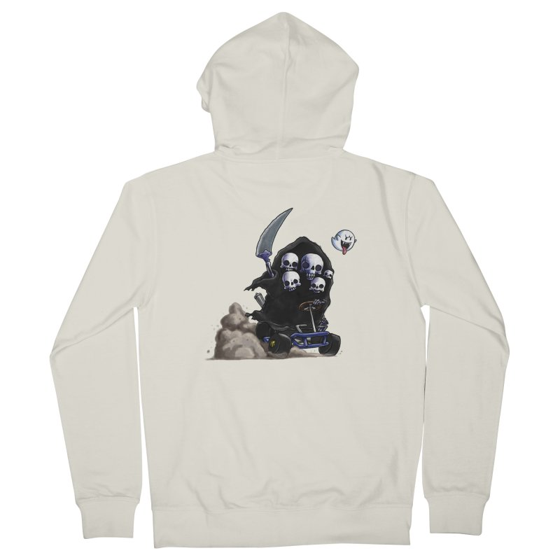 Dark Souls Invades Mario Kart (Gravelord Nito) Men's French Terry Zip-Up Hoody by Keith Noordzy's Artist Shop