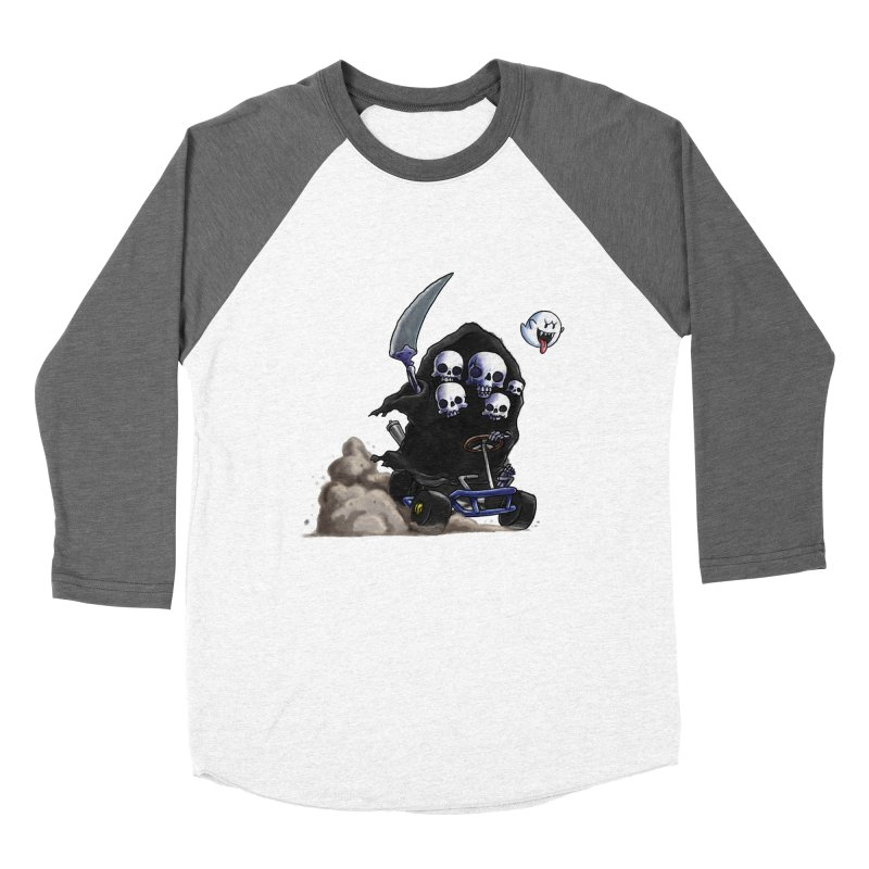 Dark Souls Invades Mario Kart (Gravelord Nito) Men's Baseball Triblend T-Shirt by Keith Noordzy's Artist Shop
