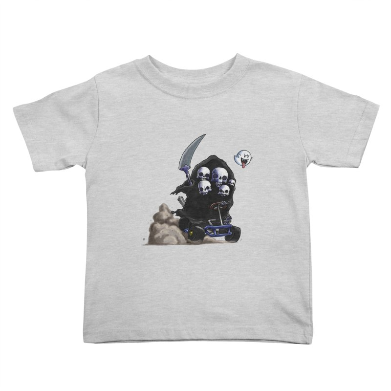Dark Souls Invades Mario Kart (Gravelord Nito) Kids Toddler T-Shirt by Keith Noordzy's Artist Shop