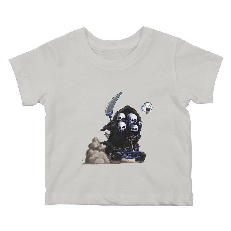 Dark Souls Invades Mario Kart (Gravelord Nito) Kids Baby T-Shirt by Keith Noordzy's Artist Shop