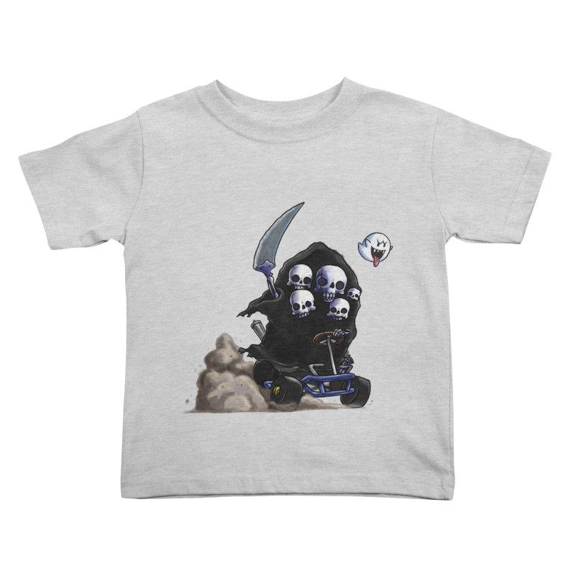 Dark Souls Invades Mario Kart (Gravelord Nito) Kids Toddler T-Shirt by Keith Noordzy's Artist Shop