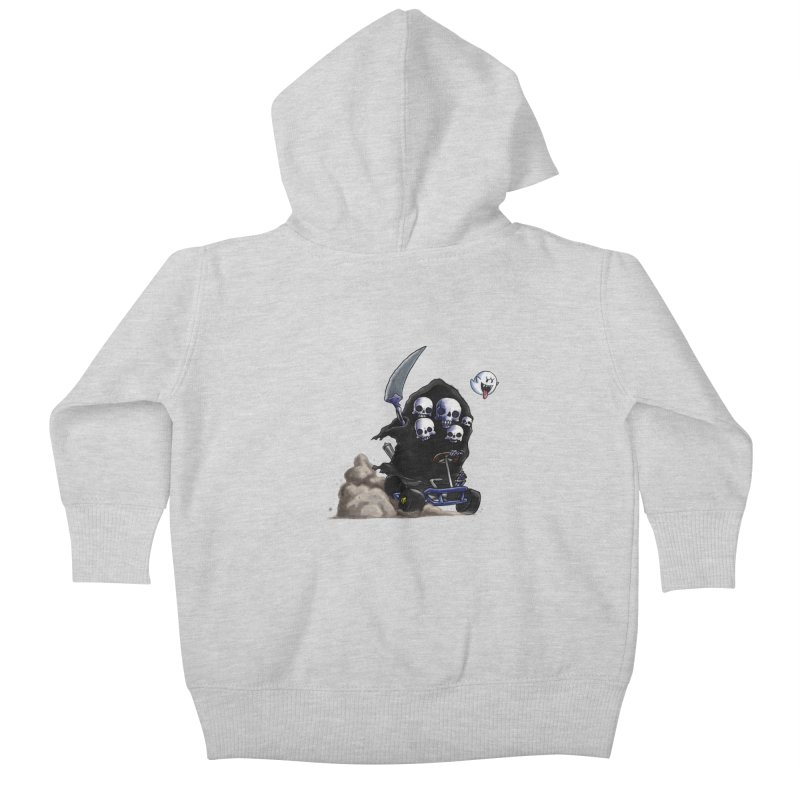 Dark Souls Invades Mario Kart (Gravelord Nito) Kids Baby Zip-Up Hoody by Keith Noordzy's Artist Shop
