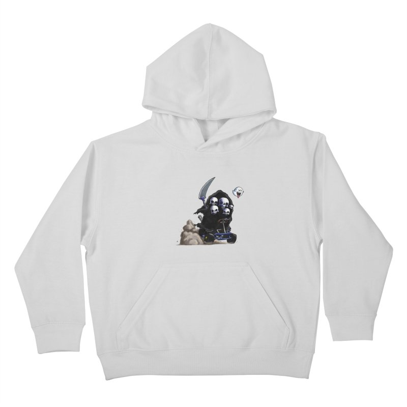 Dark Souls Invades Mario Kart (Gravelord Nito) Kids Pullover Hoody by Keith Noordzy's Artist Shop