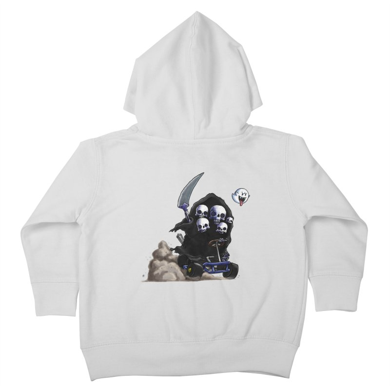 Dark Souls Invades Mario Kart (Gravelord Nito) Kids Toddler Zip-Up Hoody by Keith Noordzy's Artist Shop