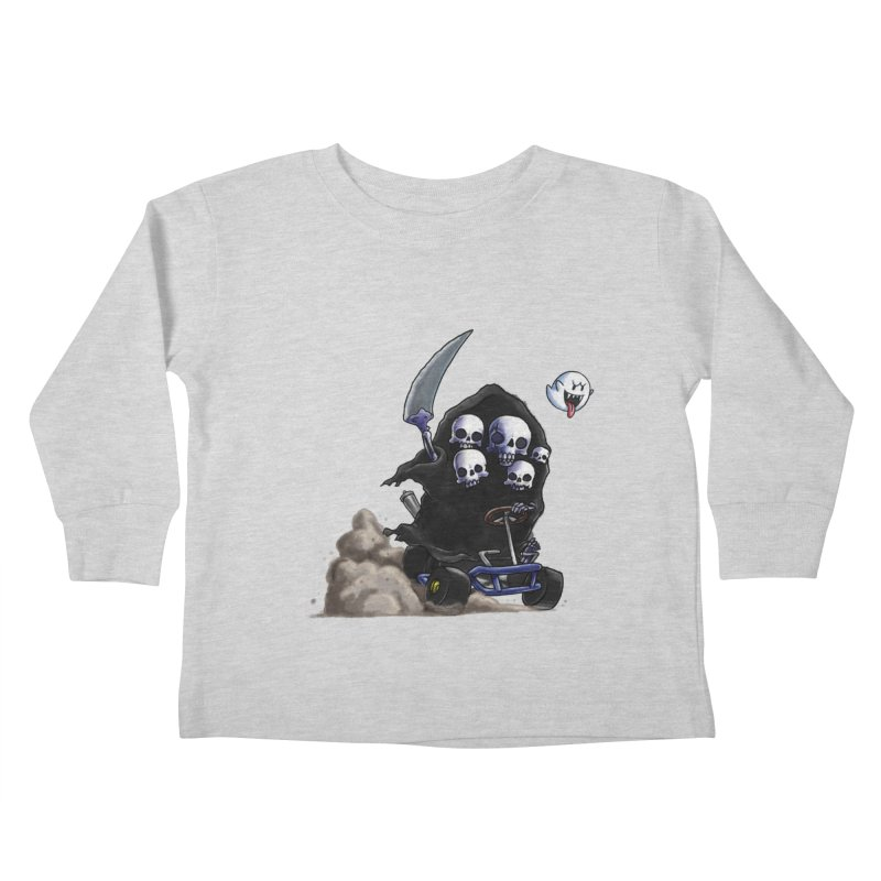 Dark Souls Invades Mario Kart (Gravelord Nito) Kids Toddler Longsleeve T-Shirt by Keith Noordzy's Artist Shop