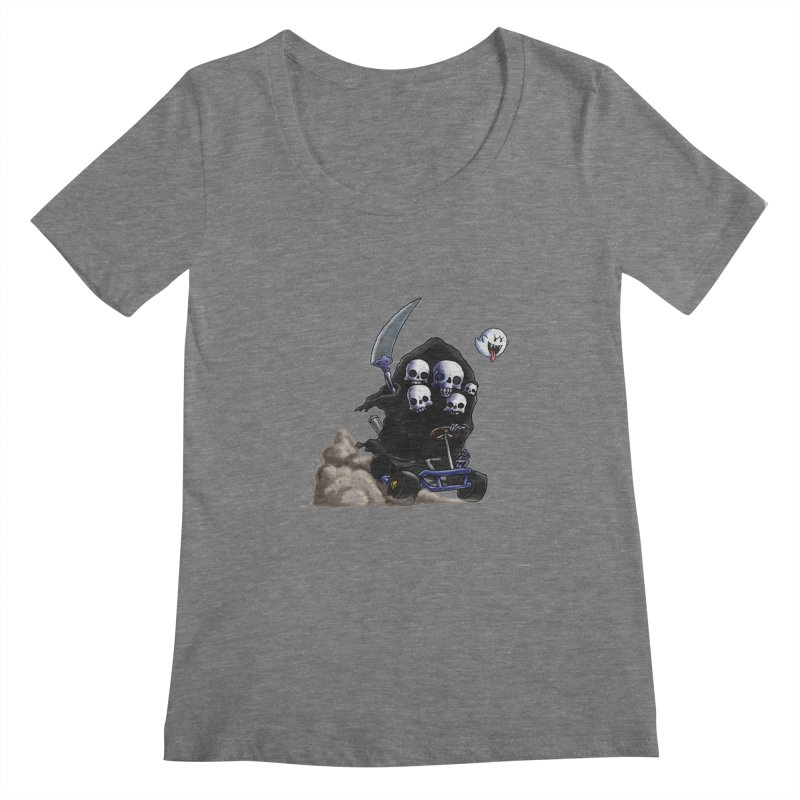 Dark Souls Invades Mario Kart (Gravelord Nito) Women's Scoopneck by Keith Noordzy's Artist Shop