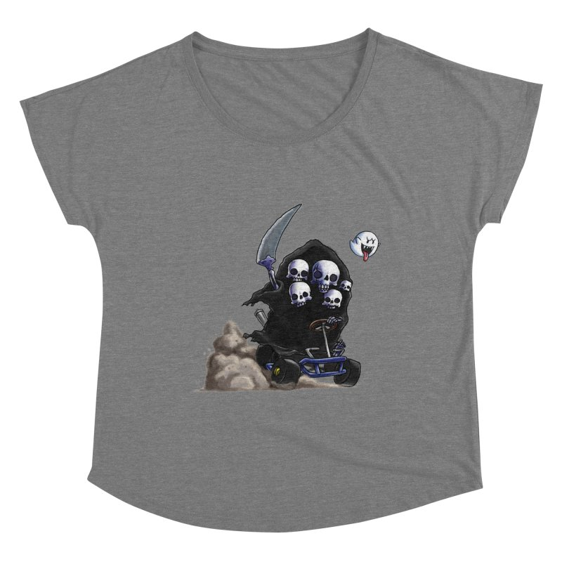 Dark Souls Invades Mario Kart (Gravelord Nito) Women's Scoop Neck by Keith Noordzy's Artist Shop