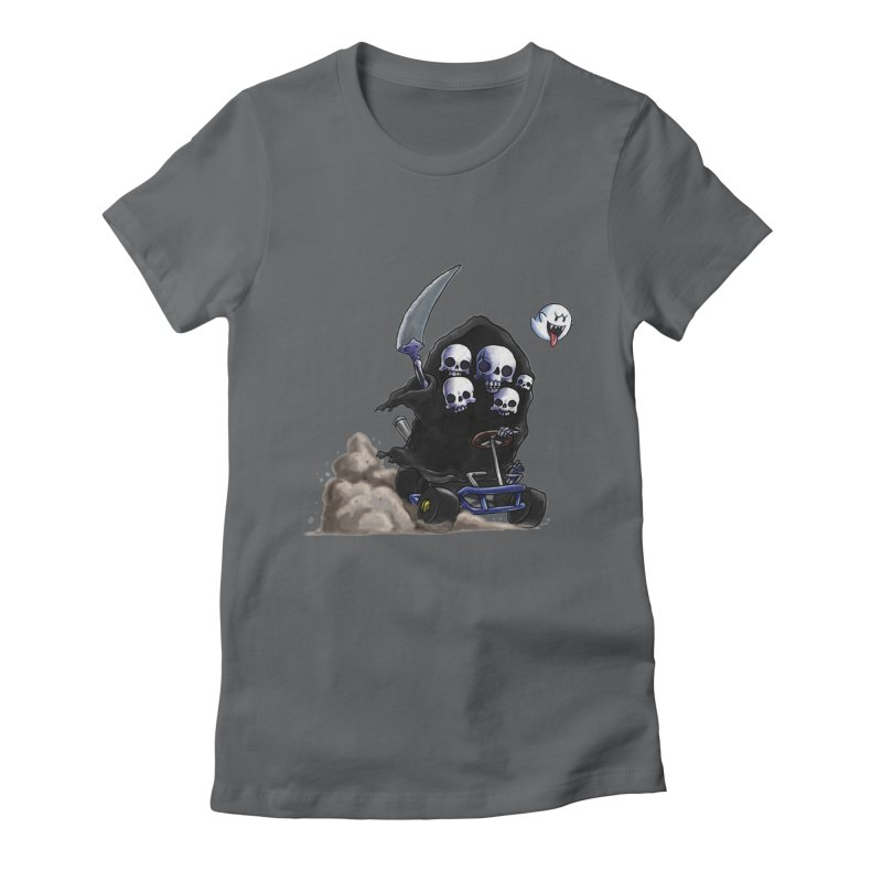 Dark Souls Invades Mario Kart (Gravelord Nito) Women's Fitted T-Shirt by Keith Noordzy's Artist Shop