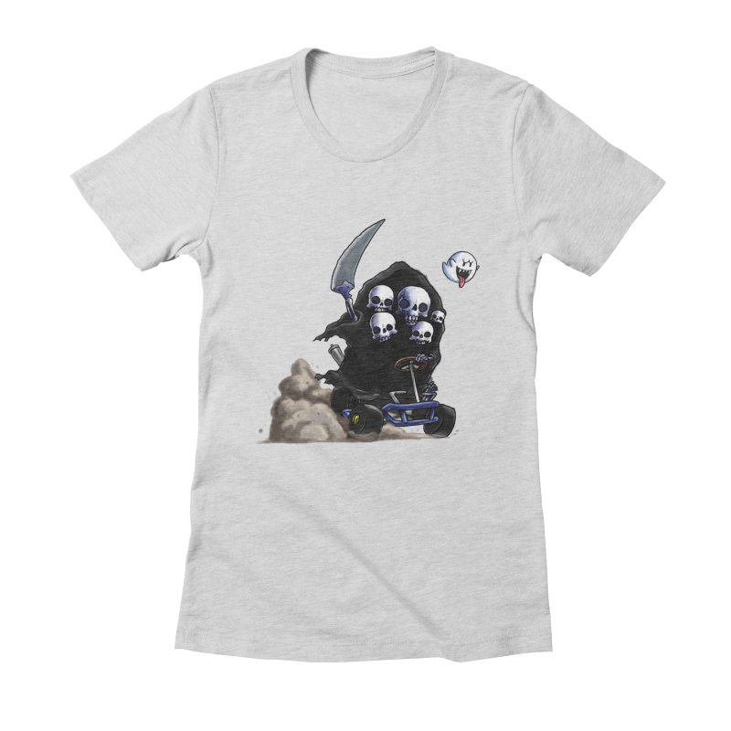 Dark Souls Invades Mario Kart (Gravelord Nito) Women's T-Shirt by Keith Noordzy's Artist Shop