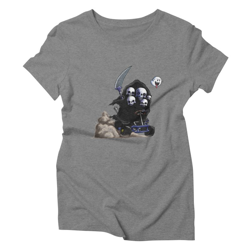 Dark Souls Invades Mario Kart (Gravelord Nito) Women's Triblend T-shirt by Keith Noordzy's Artist Shop