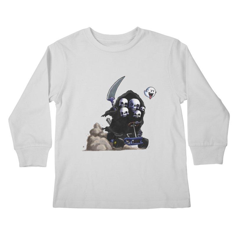 Dark Souls Invades Mario Kart (Gravelord Nito) Kids Longsleeve T-Shirt by Keith Noordzy's Artist Shop