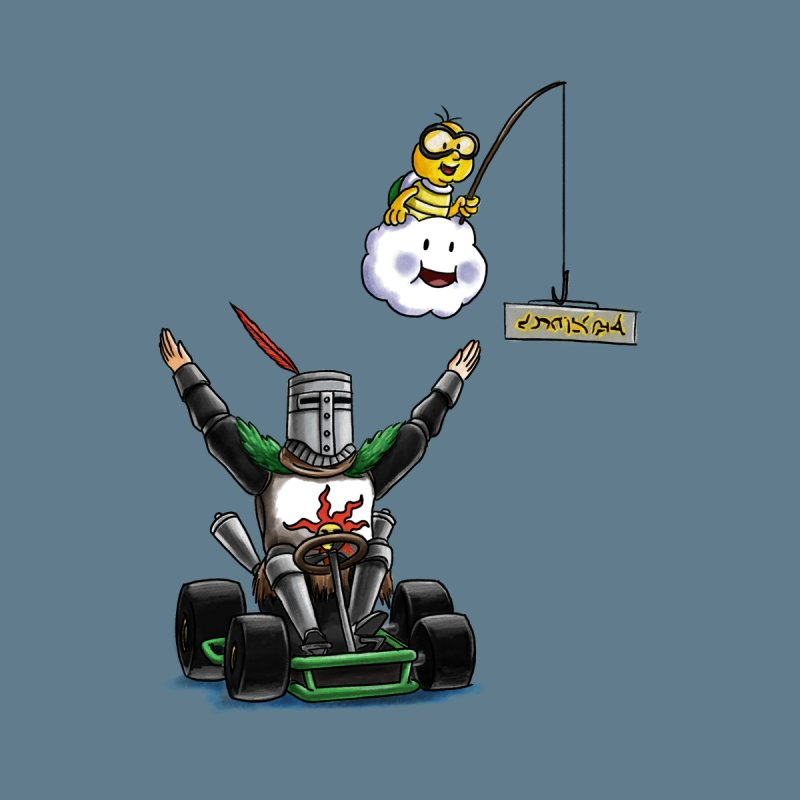 Dark Souls invades Mario Kart (Solaire of Astora) Men's Zip-Up Hoody by Keith Noordzy's Artist Shop