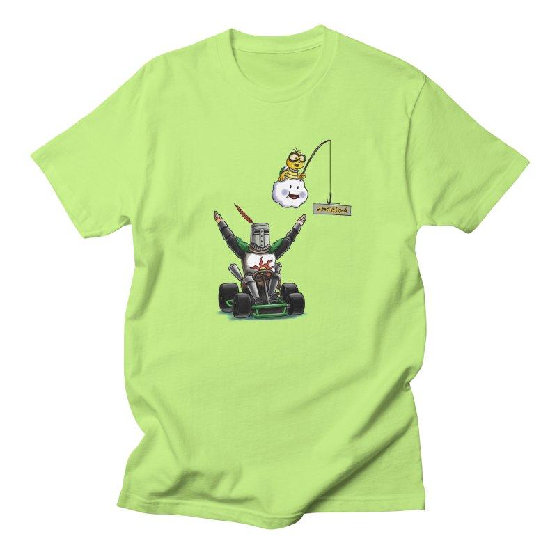 Dark Souls invades Mario Kart (Solaire of Astora) Men's T-Shirt by Keith Noordzy's Artist Shop