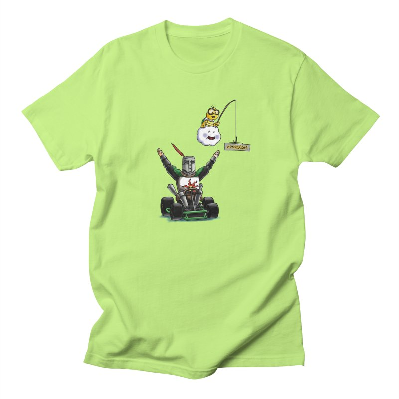 Dark Souls invades Mario Kart (Solaire of Astora) Men's Regular T-Shirt by Keith Noordzy's Artist Shop