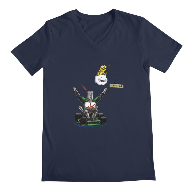 Dark Souls invades Mario Kart (Solaire of Astora) Men's V-Neck by Keith Noordzy's Artist Shop