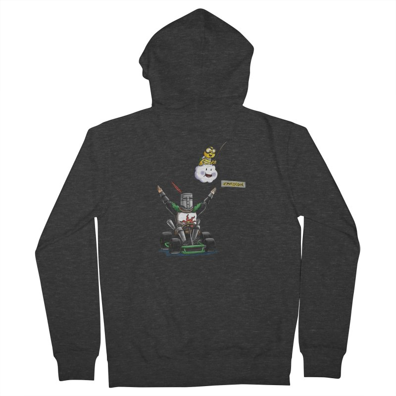 Dark Souls invades Mario Kart (Solaire of Astora) Men's French Terry Zip-Up Hoody by Keith Noordzy's Artist Shop