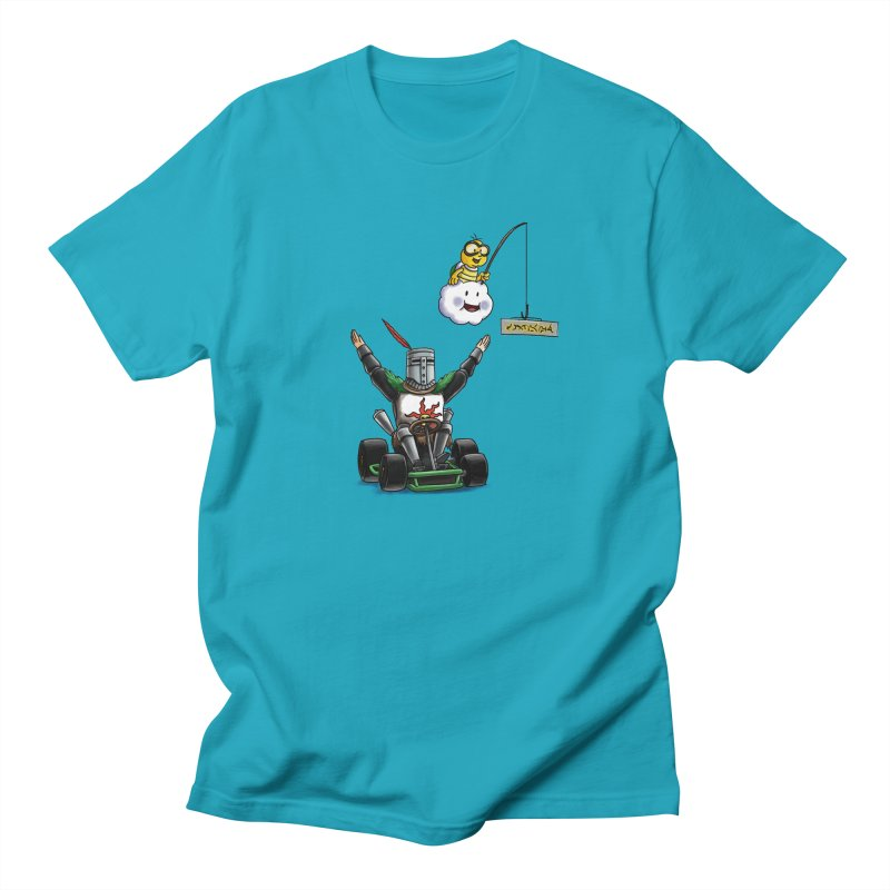 Dark Souls invades Mario Kart (Solaire of Astora) Men's T-Shirt by Keith Noordzy's Artist Shop