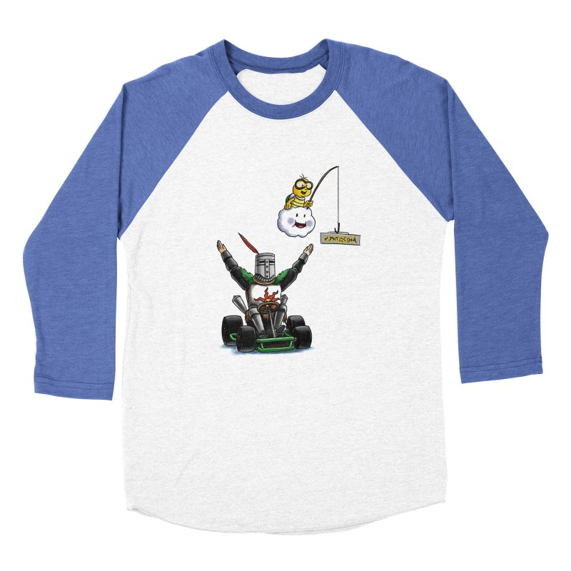 Dark Souls invades Mario Kart (Solaire of Astora) Women's Baseball Triblend Longsleeve T-Shirt by Keith Noordzy's Artist Shop