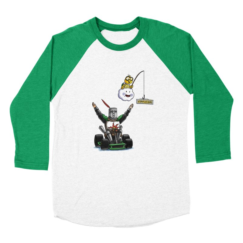 Dark Souls invades Mario Kart (Solaire of Astora) Women's Baseball Triblend T-Shirt by Keith Noordzy's Artist Shop