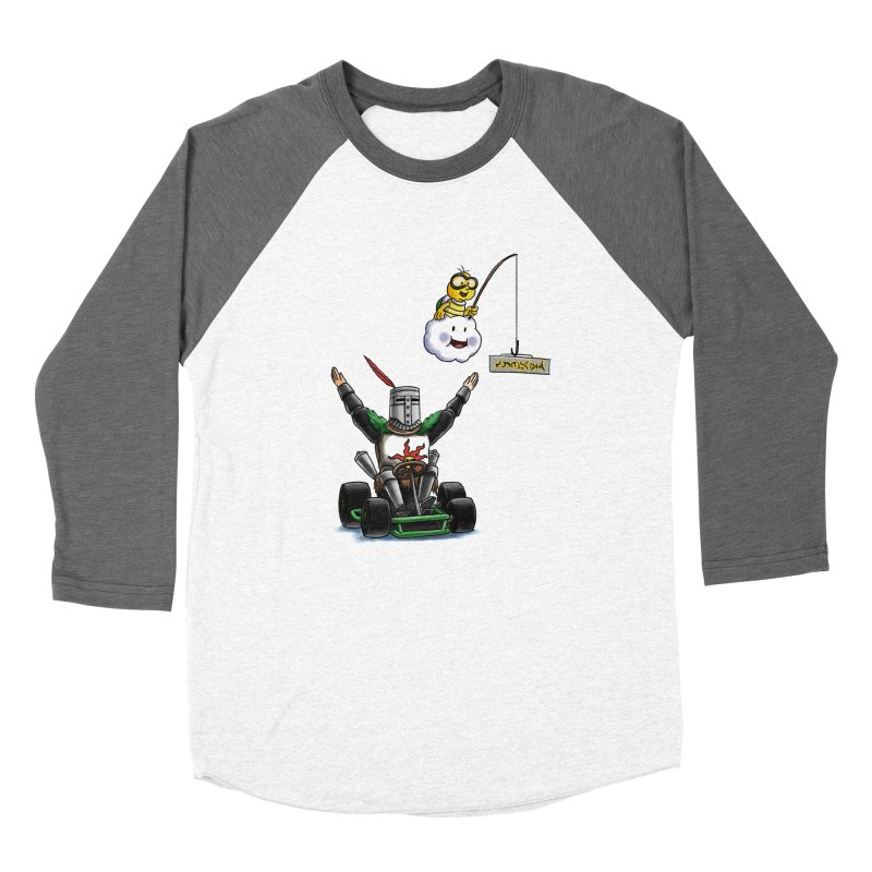 Dark Souls invades Mario Kart (Solaire of Astora) Men's Baseball Triblend Longsleeve T-Shirt by Keith Noordzy's Artist Shop