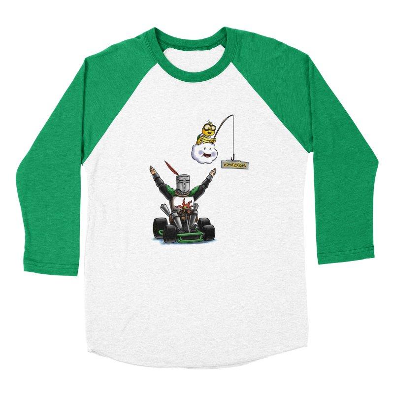 Dark Souls invades Mario Kart (Solaire of Astora) Men's Baseball Triblend Longsleeve T-Shirt by Keith Noordzy's Artist Shop