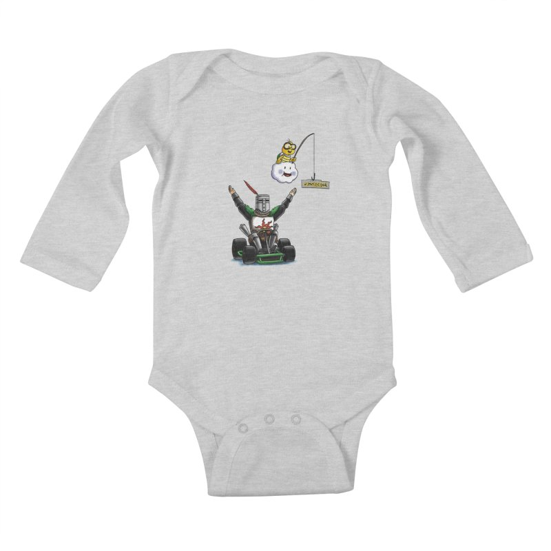 Dark Souls invades Mario Kart (Solaire of Astora) Kids Baby Longsleeve Bodysuit by Keith Noordzy's Artist Shop