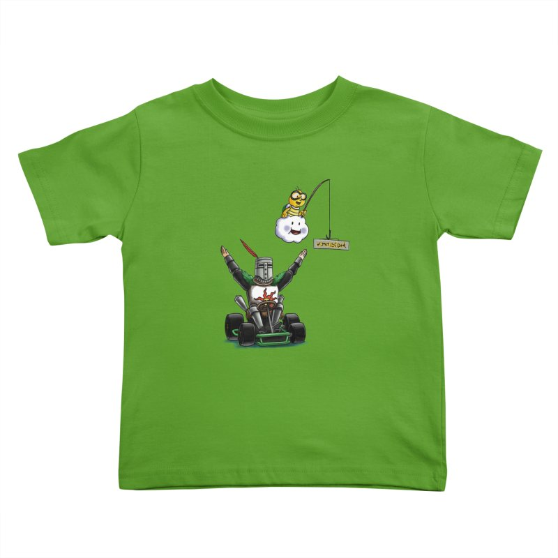 Dark Souls invades Mario Kart (Solaire of Astora) Kids Toddler T-Shirt by Keith Noordzy's Artist Shop