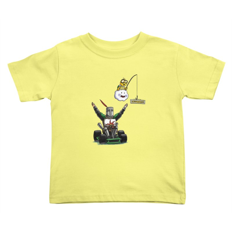 Dark Souls invades Mario Kart (Solaire of Astora) Kids Toddler T-Shirt by Keith Noordzy's Artist Shop