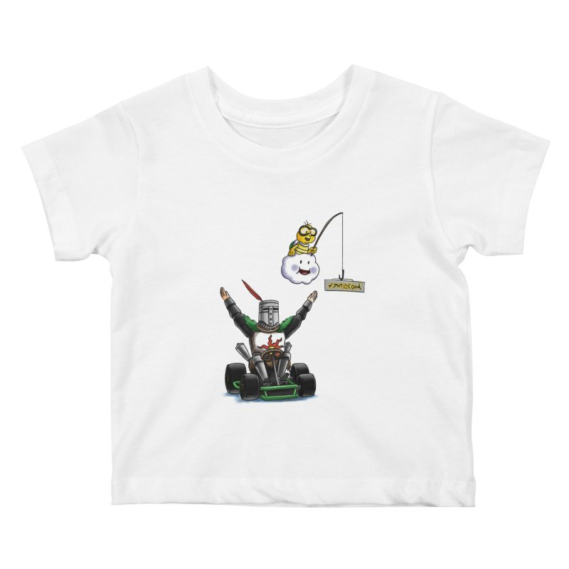 Dark Souls invades Mario Kart (Solaire of Astora) Kids Baby T-Shirt by Keith Noordzy's Artist Shop