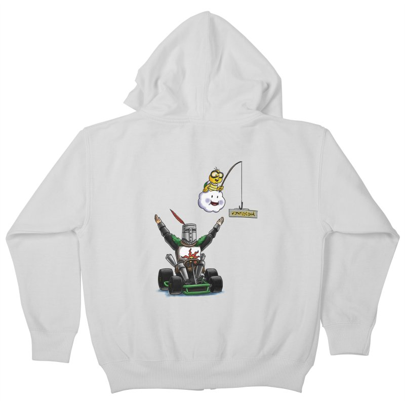 Dark Souls invades Mario Kart (Solaire of Astora) Kids Zip-Up Hoody by Keith Noordzy's Artist Shop