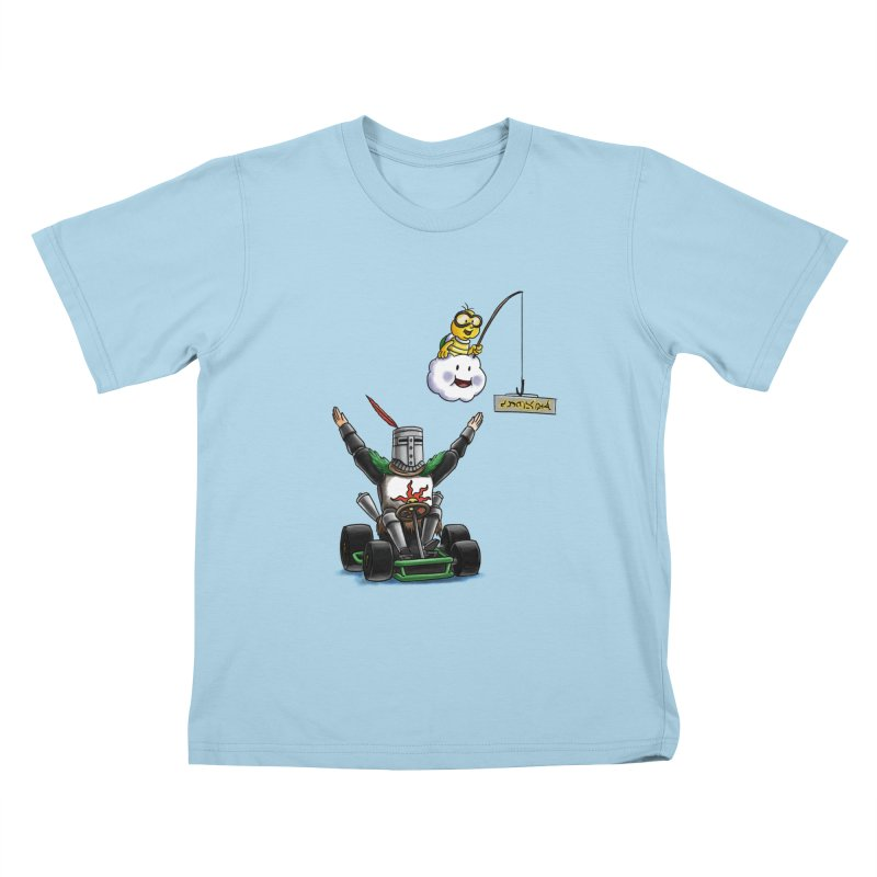 Dark Souls invades Mario Kart (Solaire of Astora) Kids T-shirt by Keith Noordzy's Artist Shop